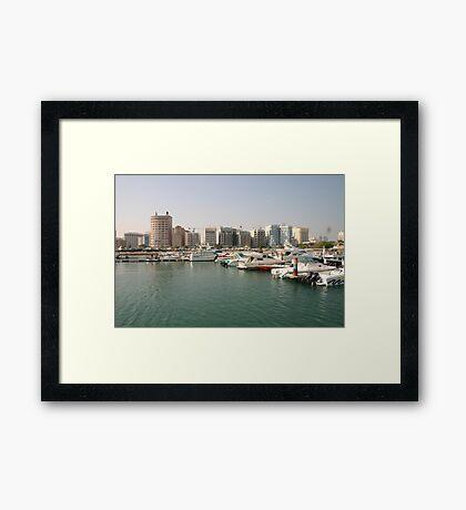 a colourful Bahrain landscape Framed Print