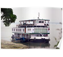 The RV Sukapha on the Brahmaputra River, Assam, India. Poster
