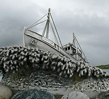 Shetland bus, Scalloway by Pamela Baker