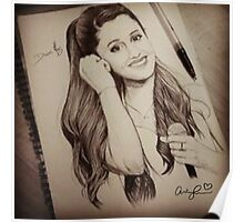 Ariana Grande Pencil Manufacture Vintage Style Poster