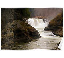 Lower Waterfalls-Letchworth State Park Poster