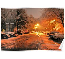 """'""""A Snowy Evening in Knoxville' (a series, no.1)""""... prints and products Poster"""