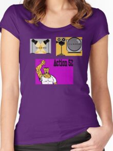 Lights Camera Action 52  Women's Fitted Scoop T-Shirt