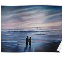 """""""Memories of Spanish Point"""" - oil painting Poster"""