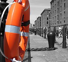 Lifesaver / Lifering next to the mersey by MikePhotos