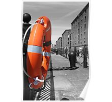 Lifesaver / Lifering next to the mersey Poster