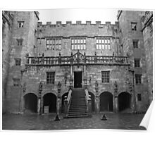 Chillingham Castle Courtyard Poster