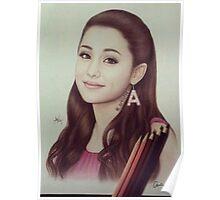 Ariana Grande Wood Color Pencils Art Poster