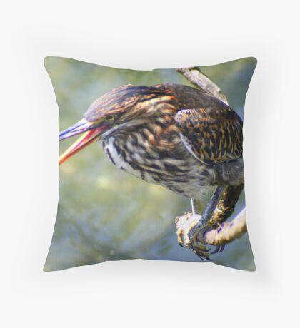Lava Heron Throw Pillow