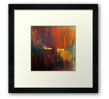 fire on water Framed Print