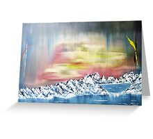 landscape meets abstract Greeting Card
