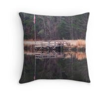 Reflection of Old Glory Throw Pillow