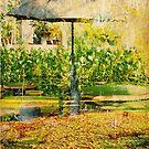 Umbrella man in pond by Martina Fagan