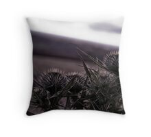 Thistles in The Peak District Throw Pillow