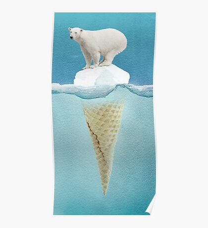 polar ice cream cap Poster