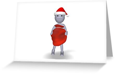 3d character with Christmas gifts by bmg07