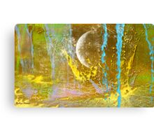 MOON abstract 121-  Art + Products Design  Canvas Print