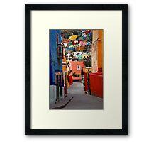 Guanajuato Lane Framed Print
