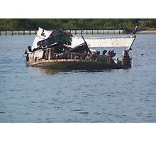 Sunken Ship Photographic Print