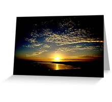 Sunset At Whiteness Greeting Card