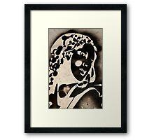 Woman stencil Framed Print