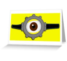 Minion Goggles Patch Greeting Card