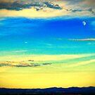Moon at dusk by Silvia Ganora