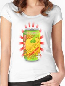 Super happy capsicum yum yum drink! Women's Fitted Scoop T-Shirt
