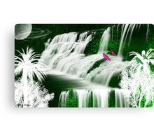Inspiration Waterfall-  Art + Products Design  Canvas Print