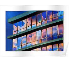 Office Block - (Evening Sunset) Poster
