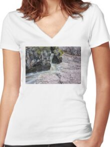 Temperance River Gorge Women's Fitted V-Neck T-Shirt