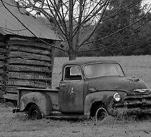 Rural American Rusty Truck by Karen Kaleta