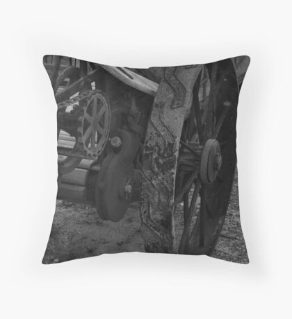 Iron Wheels Throw Pillow