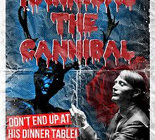 Hannibal the Cannibal - Vintage B-Movie Poster by CaptainBaloney