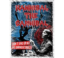 Hannibal the Cannibal - Vintage B-Movie Poster Photographic Print