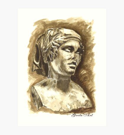 Female Bust - Sculpture I-III DC, Rome Art Print