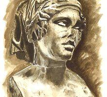 Female Bust - Sculpture I-III DC, Rome by Greta Art Roma