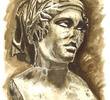 Female Bust - Sculpture I-III DC, Rome by Greta Art