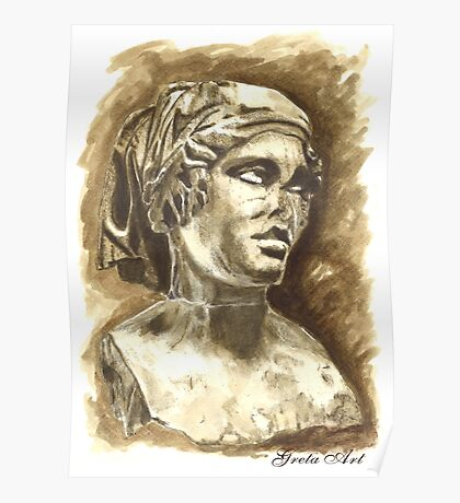 Female Bust - Sculpture I-III DC, Rome Poster
