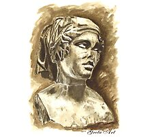 Female Bust - Sculpture I-III DC, Rome Photographic Print