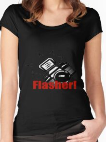 Flasher! Women's Fitted Scoop T-Shirt