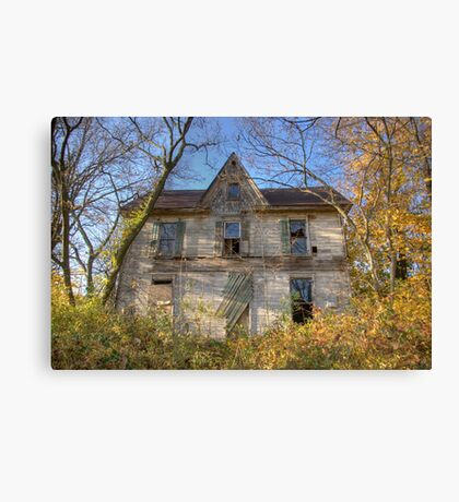 Gingerbread Abandoned House Canvas Print