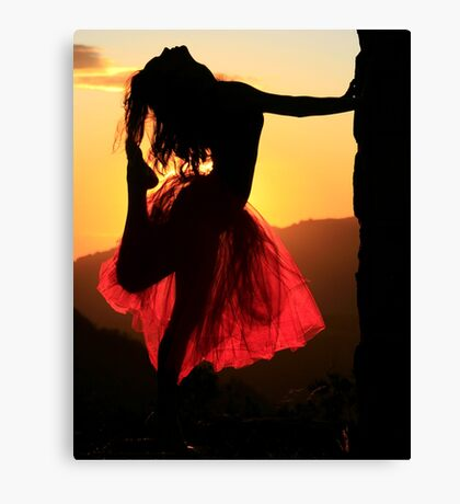 Dancing on High Canvas Print