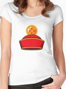 Son Gohan's Hat Women's Fitted Scoop T-Shirt