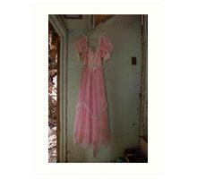 Southern Belle Pink Prom dress Art Print