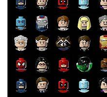 Marvel Hero Minifigures by sammiethetiger