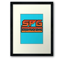 Screen Punch Gaming Framed Print