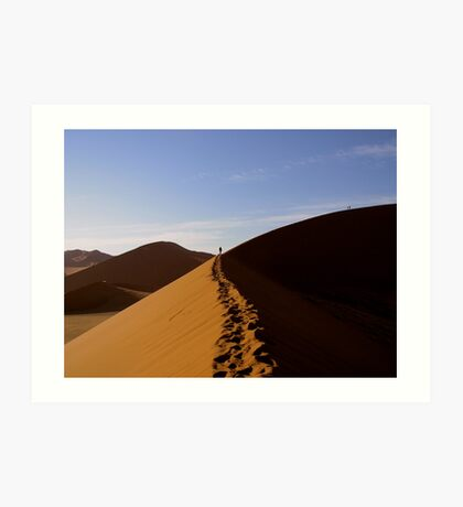 footprints in the Namib Art Print