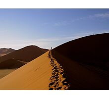 footprints in the Namib Photographic Print