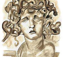 Head Of Meduse - 1630, Gian Lorenzo Bernini by Greta Art Roma